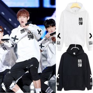 BTS Bangtan Boys Active Sweatshirt Tracksuit The Spring Autumn long sleeve hoodie Outerwears hip hop shirts