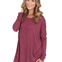 A Breath Away Tunic in Burgundy | Monday Dress Boutique