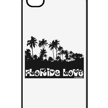 Florida Love - Palm Trees Cutout Design iPhone 4 / 4S Case  by TooLoud