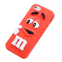 M&M's Silicone iPhone 5C Case (Red)