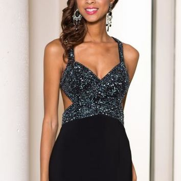 Sean Cut Out Beaded Dress 50892
