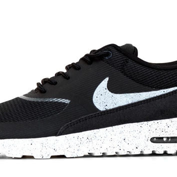 Nike Air Max Thea - Paint Speckled Sole & Swoosh - Black/White/Gray