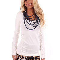Ivory Seamless Long Sleeve Top