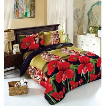 Bedding Set Tiger Flowers