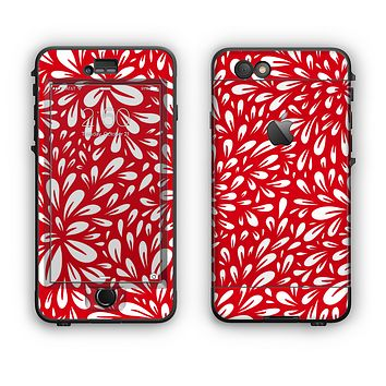 The Red Vector Floral Sprout Apple iPhone 6 LifeProof Nuud Case Skin Set