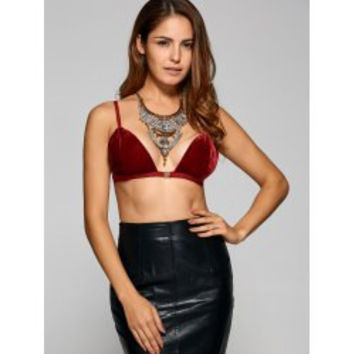 Crush Velvet Bra