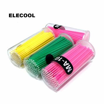 ELECOOL Plastic Eyelash Makeup Brushes Cleaning Stick Cotton Swab Eyelash Extension Mascara Clean Brush Applicator Tool 3 Colors