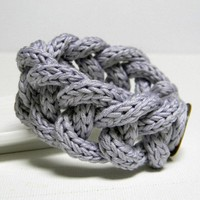 WISTERIA - Cotton Yarn Chain Bracelet - Ready To Ship | Luulla