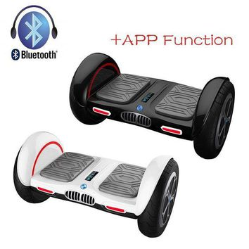 DCCK1IN iscooter new 10 inch hoverboard bluetooth and app giroskuter 2 wheel self balancing gyroscooter hover board two wheel oxboard