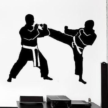 Wall Stcker Sport Karate Taekwondo Fight Fighting Vinyl Decal Unique Gift (z3053)