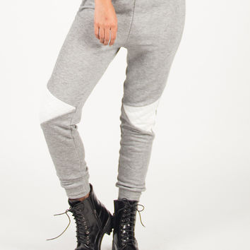 Quilted Patch Jogger Pants - Large