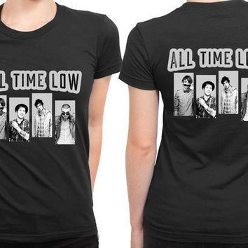 All Time Low Grayscale 2 Sided Womens T Shirt