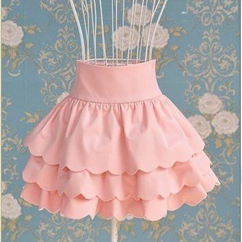 Romantic ruffle skirt