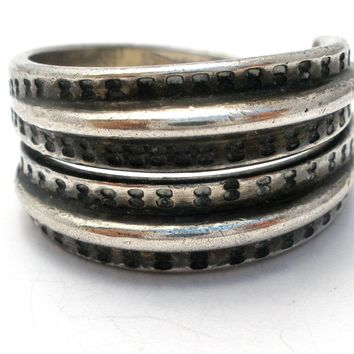 David Andersen Wide Band Sterling Silver Ring