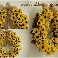 summer wreaths fall wreaths autumn wreaths sunflower wreaths front door decor outdoor wreaths home decor