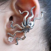 Octopus Fashion Ear Cuff (Single, No Piercing)