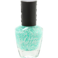 White And Mint Splash Splatter Nail Polish