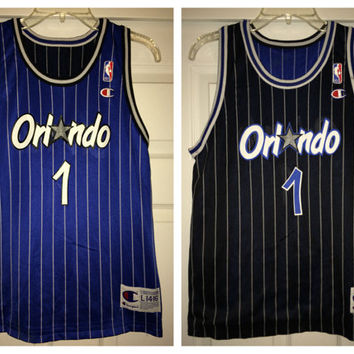 uk availability 3c50c ad04b Sale!! Vintage Champion Orlando Magic Reversible Basketball Jersey NBA  Shirt #1 Penny Hardaway Size youth Large (14-16) Free US Shipping