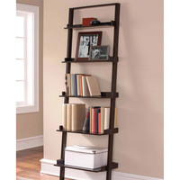 Walmart: Leaning Ladder 5-Shelf Bookcase, Espresso