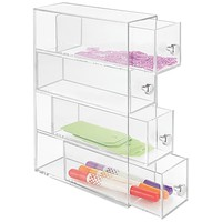Clarity Cosmetic Organizer for Vanity or Office Supply Cabinet- 4 Drawers, Clear (36560) | Staples