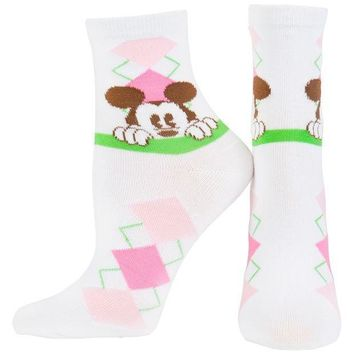 ICIK8UT Mickey Mouse Argyle Socks