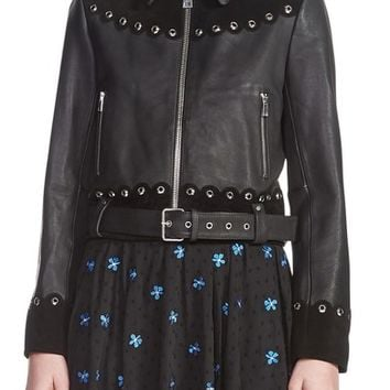 maje Embellished Leather Jacket | Nordstrom