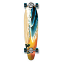 Punked Kicktail Beach Longboard Complete