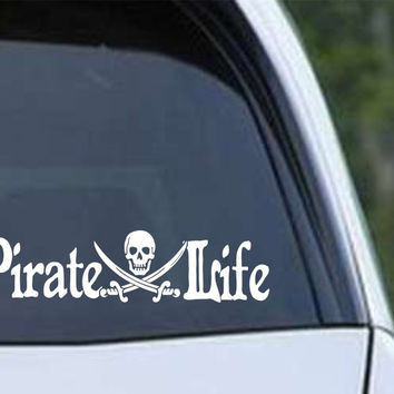 Pirate Life Die Cut Vinyl Decal Sticker