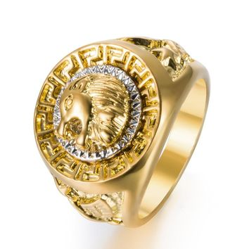 Classic Men Lion Head Ring