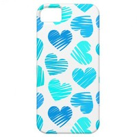 Blue and white hearts iPhone 5 Case from Zazzle.com