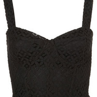 Lace Corset Style Top - Topshop