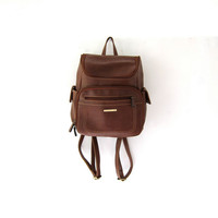 vintage 90s brown vegan rucksack backpack