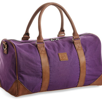 Vanguard Duffle Bag, Plum/Tan, Duffels
