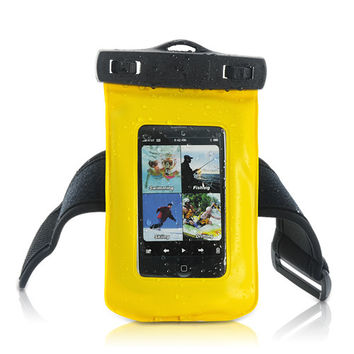 Waterproof Case for iPhone, iPod Touch, Android Smartphones, MP4 Players (Yellow)