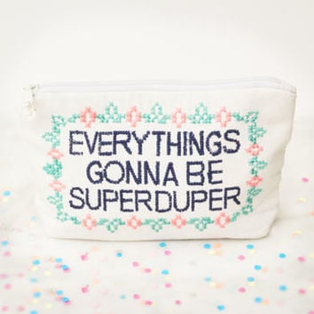 Personalised Superduper Make Up Bag