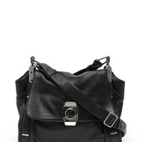 CELINE Dimitri Long Strap shoulder bag leather black