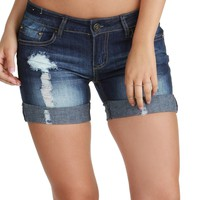 Sale-girl In A Country Song Med. Wash Denim Shorts