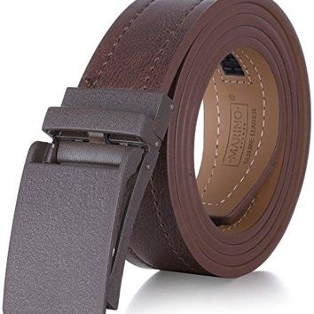 "Marino Avenue Genuine Leather belt for Men, 1.3/8"" Wide, Casual Ratchet Belt with Automatic Linxx Buckle, Enclosed in an Elegant Gift Box"