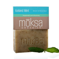 Iceland Mint Organic and Natural Body Bar Soap