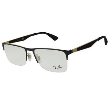 Ray-Ban RB 6335 2890/54 Black Gold Frame RX Optical Mens Womens Unisex Glasses
