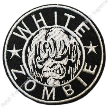 WHITE ZOMBIE ROB Heavy Metal Band Music Iron On/Sew On Patch Tshirt TRANSFER MOTIF APPLIQUE Rock Punk Badge
