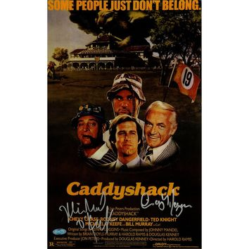 Cindy MorganMichael OKeefe Dual Signed 10x16 CaddyShack Movie Poster Photo