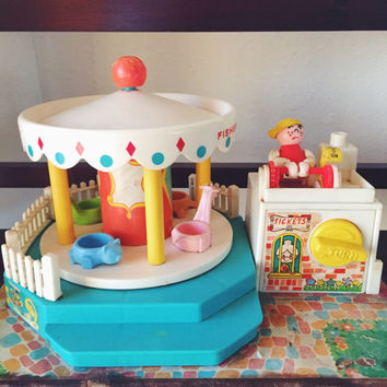 Fisher Price, Little People, Musical, Merry Go Round, Nursery Decor, Baby Shower, Birthday Gift