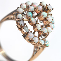 Opal Ring Antique 10k Yellow Rose Gold
