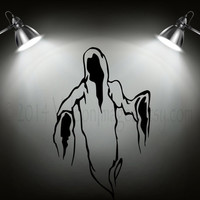 Ghost reaper silhouette vinyl wall decal, home decor, wall art