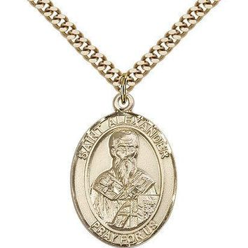 "Saint Alexander Sauli Medal For Men - Gold Filled Necklace On 24"" Chain - 30 ... 617759470932"