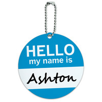 Ashton Hello My Name Is Round ID Card Luggage Tag