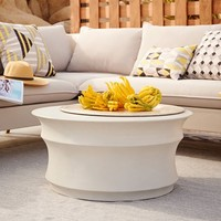 Sculpted Drum Coffee Table