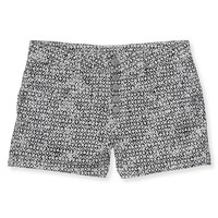 HIGH-WAISTED DIAMOND PRINT SHORTY SHORTS