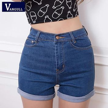 Summer Vintage High Waisted Denim Women Shorts